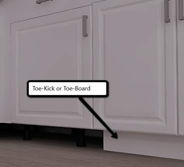 Toe Kick or Toe Space Kitchen Cabinets